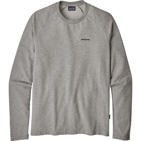 Patagonia M's P-6 Logo Lightweight Crew Sweatshirt Feather Grey w/Black